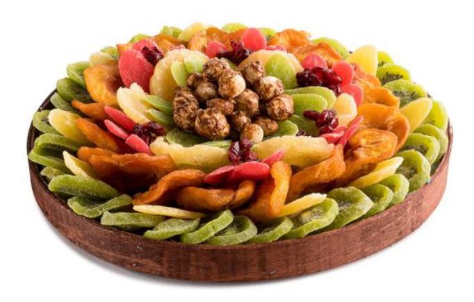 Circle Platter Dry Fruit