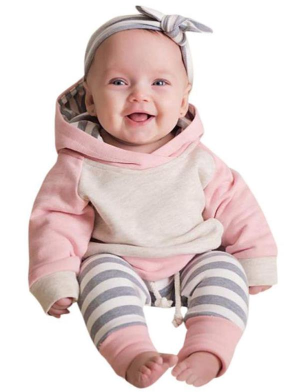 Baby Boys Girls Clothes Long Sleeve Hoodie Tops