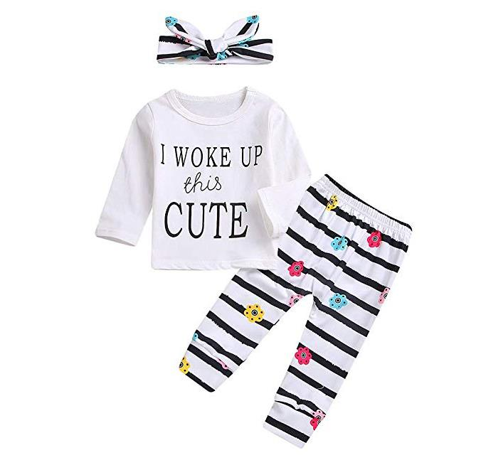 3Pcs Baby Girl Outfits Set