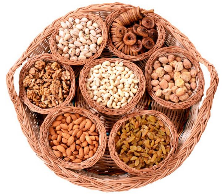 Dry fruit platter with Bowls