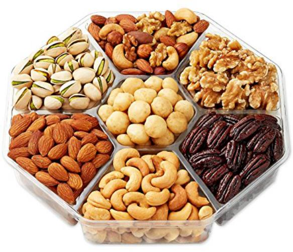 7-part hexagon dry fruit tray
