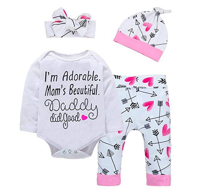 Baby Girl Clothes Cute Letter Romper