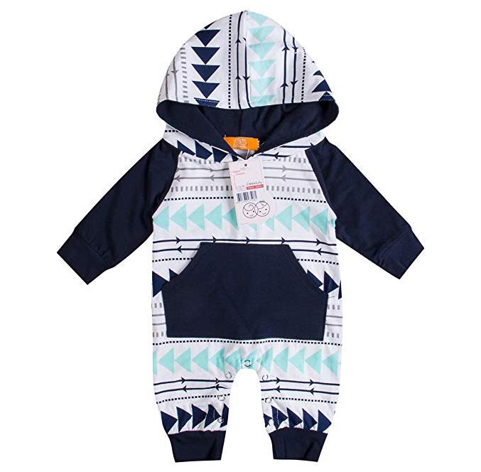 Emmababy Baby Boys Girls Jumpsuit Hoodie Romper Outfit