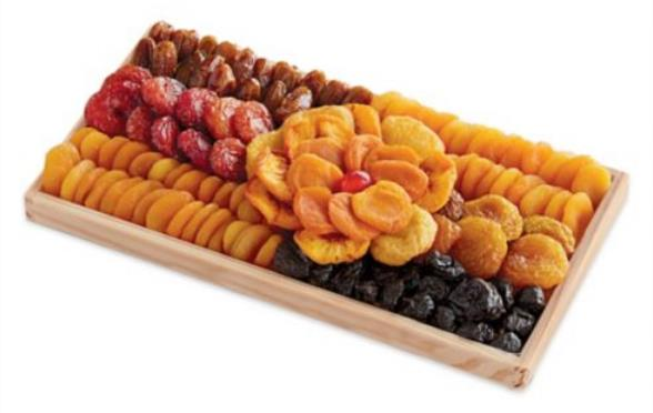 Rectangle Dry Fruit Platter with Flower