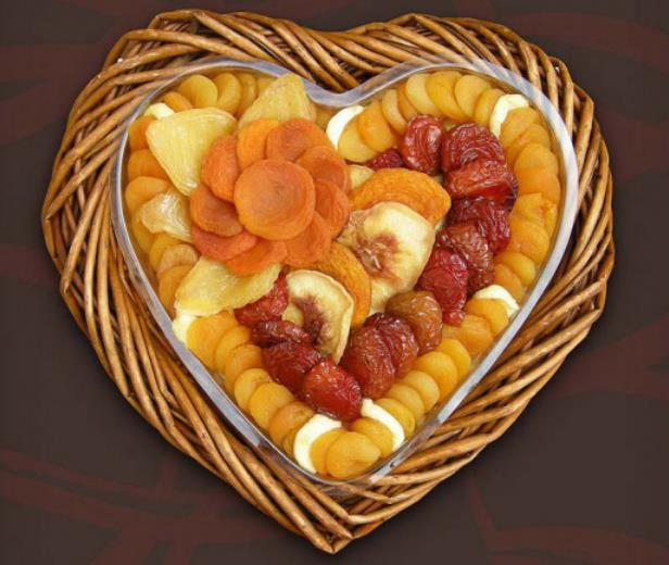 Heart-shaped Dry Fruit tray