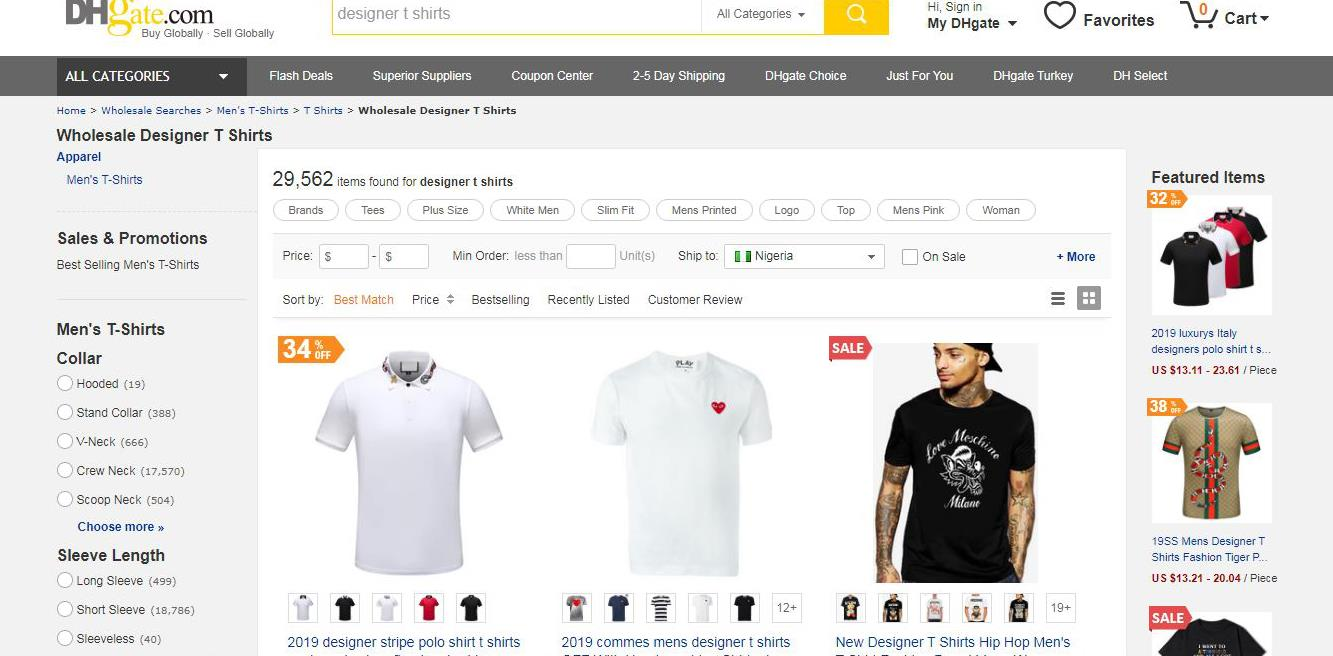 DHgate T-Shirts