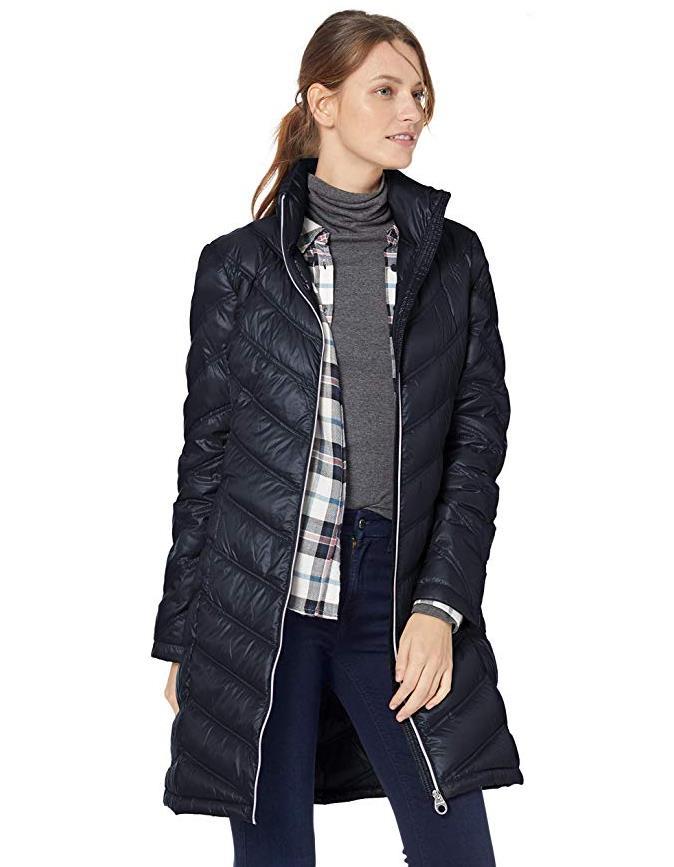 Calvin Klein Women's Chevron-Quilted Packable Down Coat