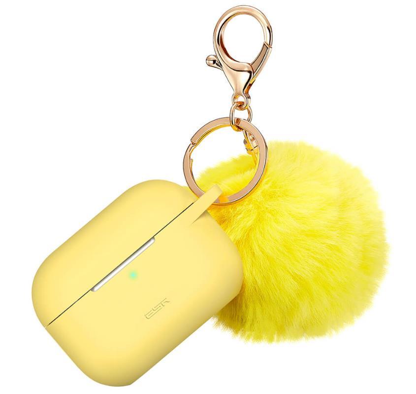 ESR Bounce Silicone Carrying Case with Fur Pom-Pom Keychain