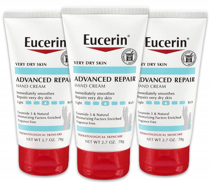 Eucerin Advanced Repair Hand Cream (Pack of 3)
