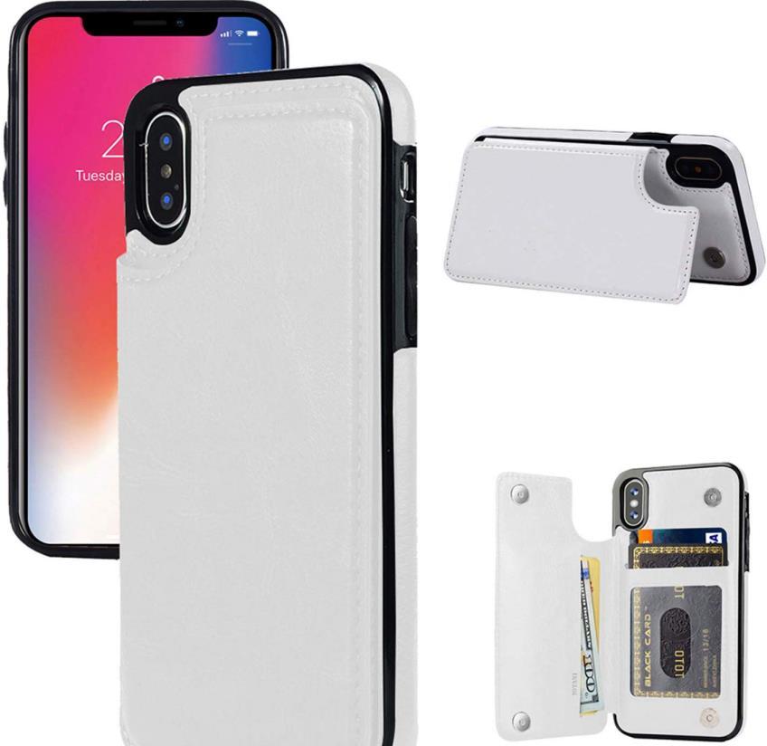 JOYAKI iPhone XS Slim Leather Wallet Case