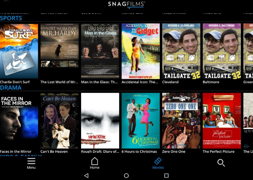 SnagFilms movie app