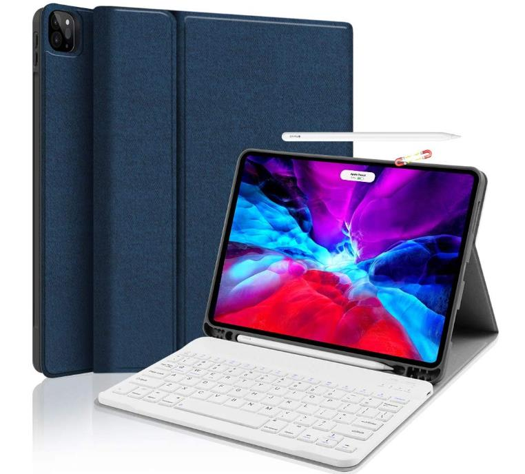 JUQITECH Case with Keyboard for iPad 11 2nd Gen