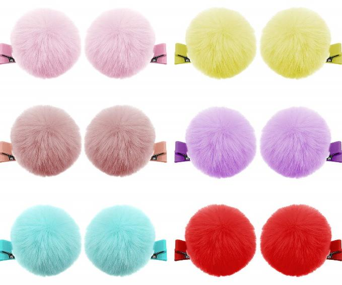 Ball Pompom Hair Clips