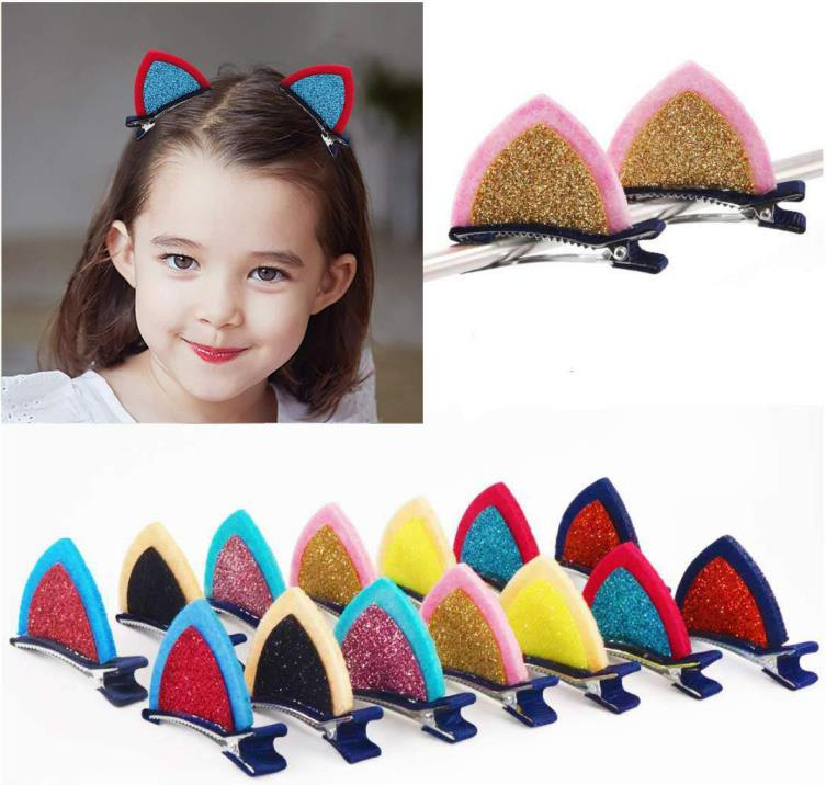 2 inch Felt Cat Ears Hair Clip