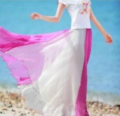 Beach Chiffon Stitching Skirt