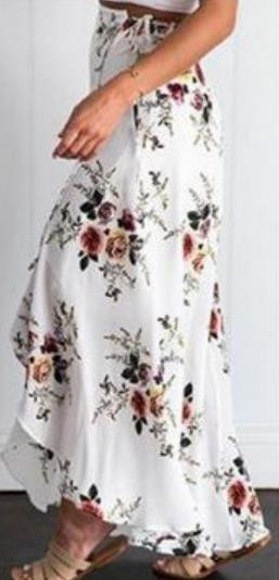 Cross-border Suitable for Vintage floral Beach Long Skirt