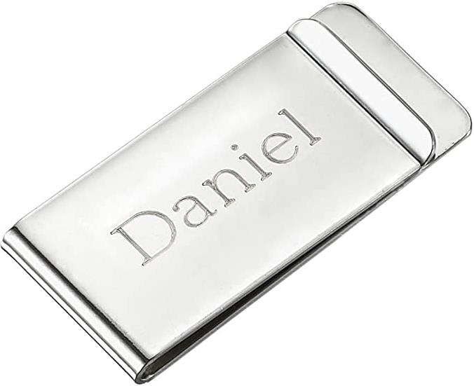 Visol Personalized Stainless Steel Money Clip