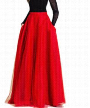 2020 Trendy Long Straight Tulle Skirt for Women Pleat Floor