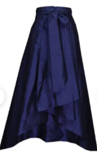 Tafetta Hi-low Ball Skirt with Long Waist Sash