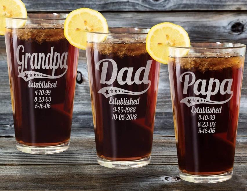 Personalized Daddy Pub Glass