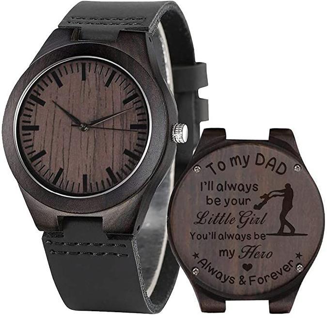 Engraved Men's Wooden Watch
