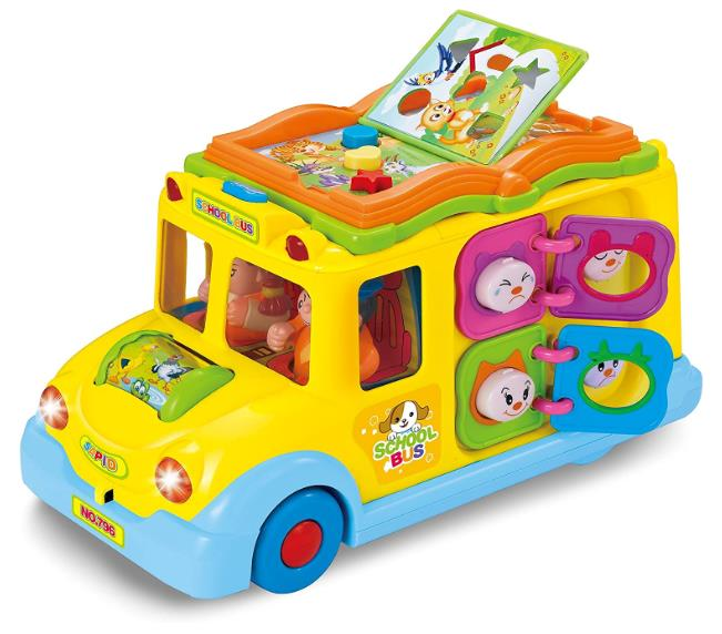 Interactive Yellow School Bus Musical Activity Toy